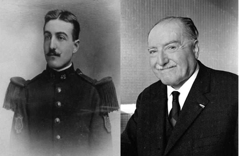 Edmond Tournier en 1911, à 21 ans, et en 1965, à 75 ans.
