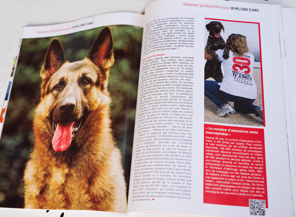 QOA Magazine-dossier 30 Millions d'amis